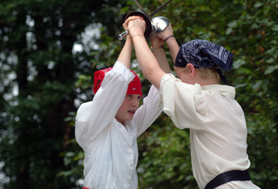 Workshops Offer Campers Even More Choices Two Boys Fencing