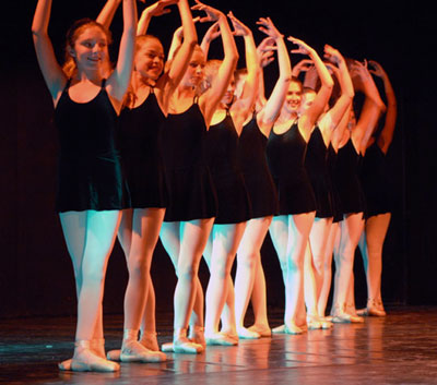 Ballet, Modern, Jazz, Hip Hop, Tap and Bollywood kids on stage